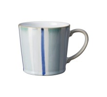 Denby Blue Stripe Painted Large Mug