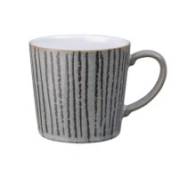 Denby Dark Grey Vertical Wax Large Mug