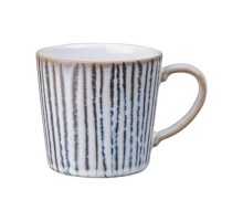Denby Light Grey Vertical Wax Large Mug