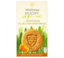 Waitrose Duchy organix Stem Ginger all-butter-shortbread