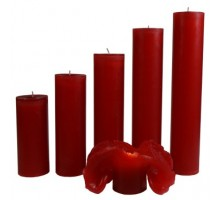 Maria Buytaert Kerze Klassik Rot 17-27cm