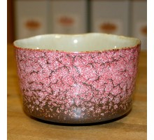 Matchaschale rosa gemustert