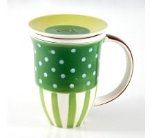 ChaCult Tee-Tasse mit Sieb und Deckel in Grün