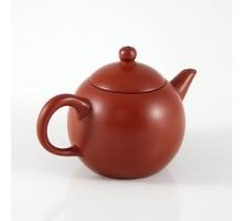 Chinesisches Teekännchen Rotbraun rund