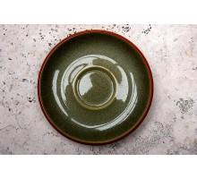 Denby Fire Tee-/Kaffeeuntertasse grün