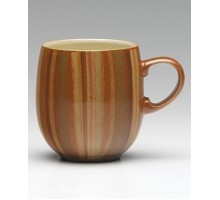 Denby Fire Stripes Kaffeebecher Curve groß
