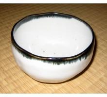 Matchaschale handgefertigt weiss-grau-schwarzblau