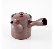 Japanisches Seitengriff-Teekännchen Braun