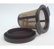 Tee Dauerfilter mit Edelstahl Gewebe 6cm