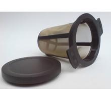 Tee Dauerfilter mit Edelstahl Gewebe 7cm
